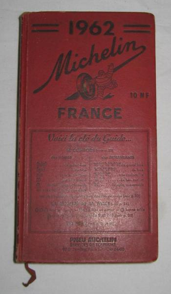 Guide Michelin rouge France 1962 *