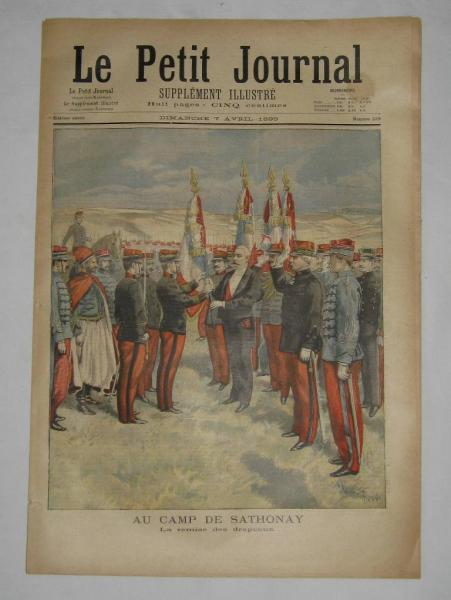 Le petit journal du 7 avril 1895 N°229 Au camp de Sathonay