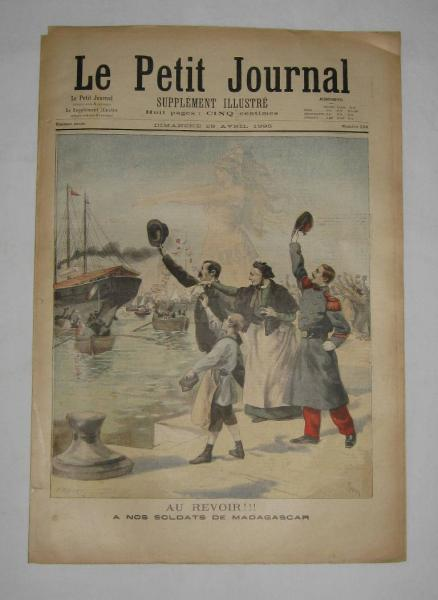 Le petit journal du 28 avril 1895 N°232 A nos soldats de Madagascar
